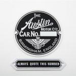 Austin Body disc & quote this no